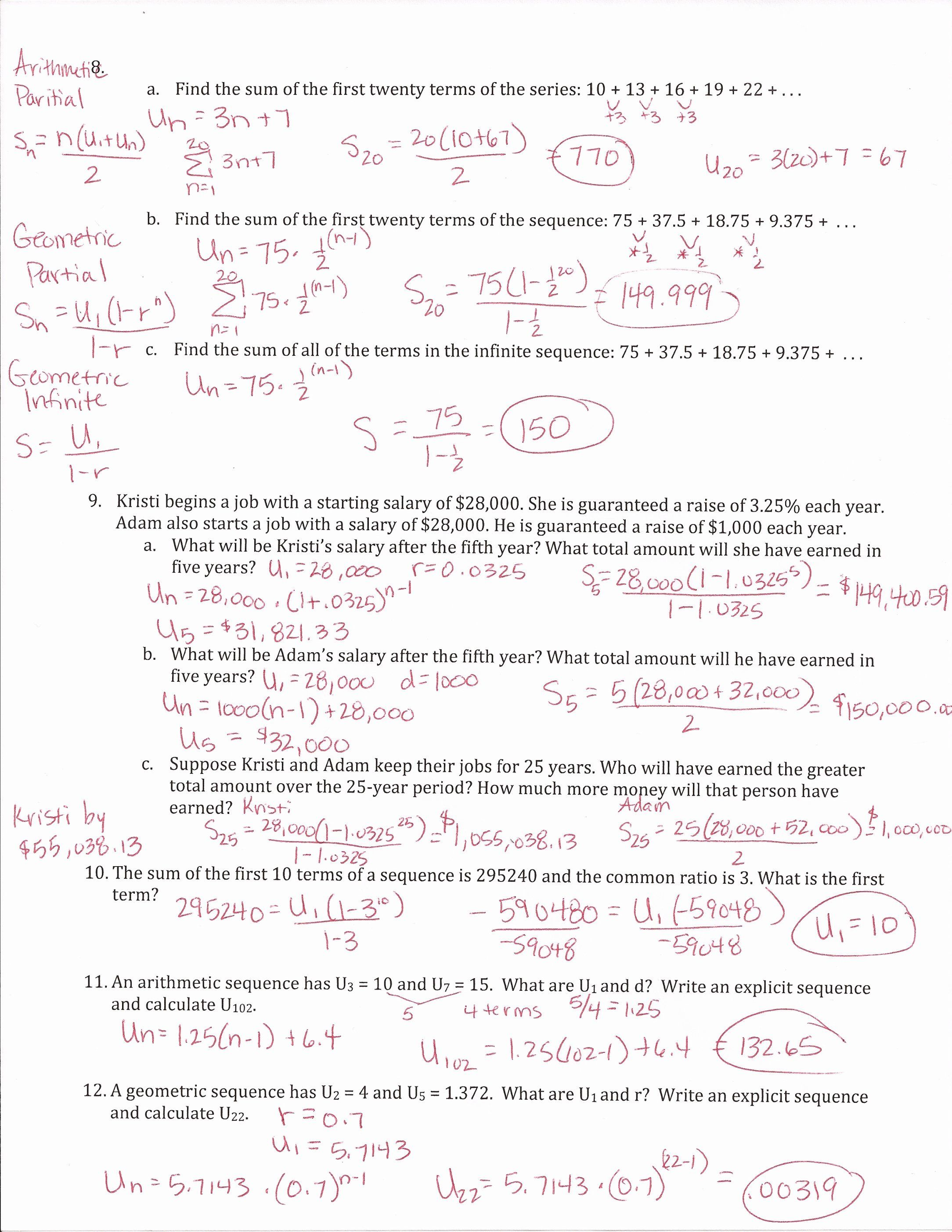 Arithmetic Sequence Worksheet Answers Fresh Arithmetic Sequences The Nth Term Worksheet Edplace In 2020 Arithmetic Sequences Geometric Sequences Sequencing Worksheets
