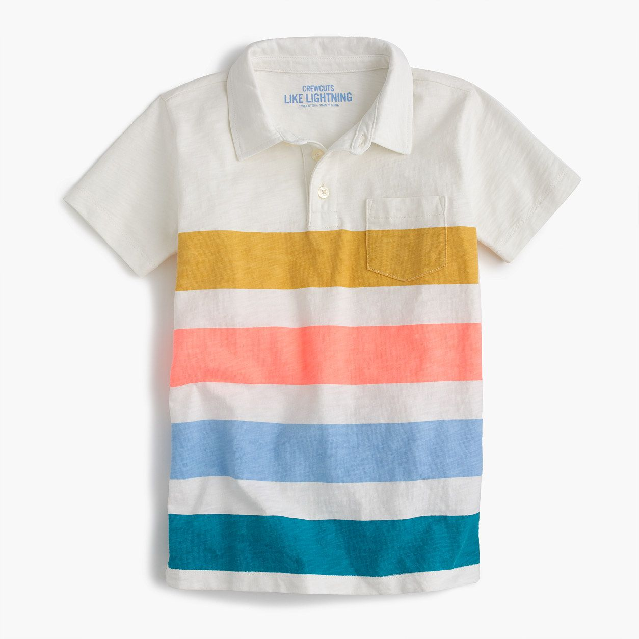 961bffc96d8e crewcuts Boys Short-Sleeve Polo Shirt In Quad Stripe (Size 14 Kid ...