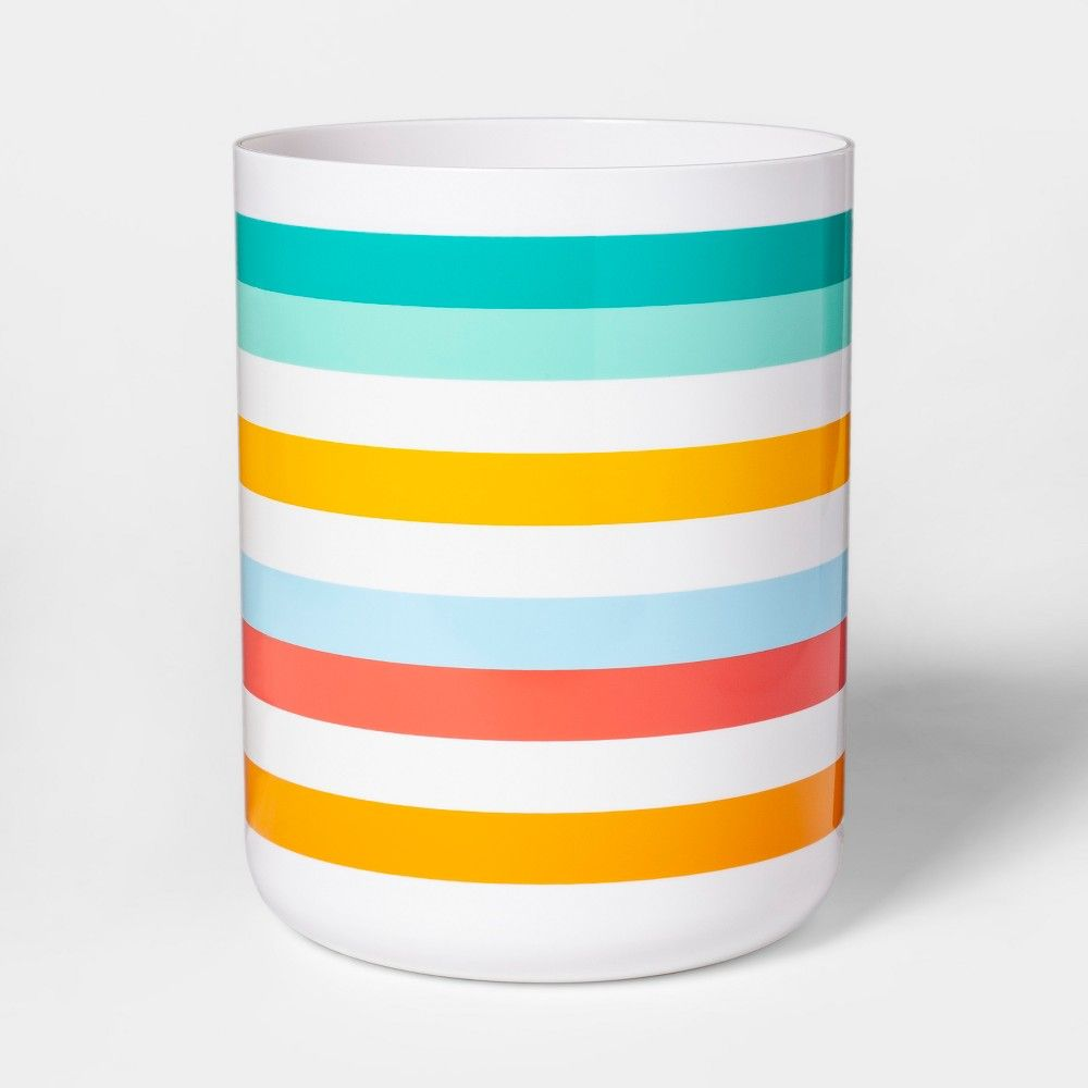 Warm Striped Bathroom Wastebasket - Pillowfort