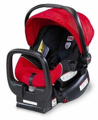 Click Image Above To Purchase: Britax Chaperone Infant Car Seat With Base In Red