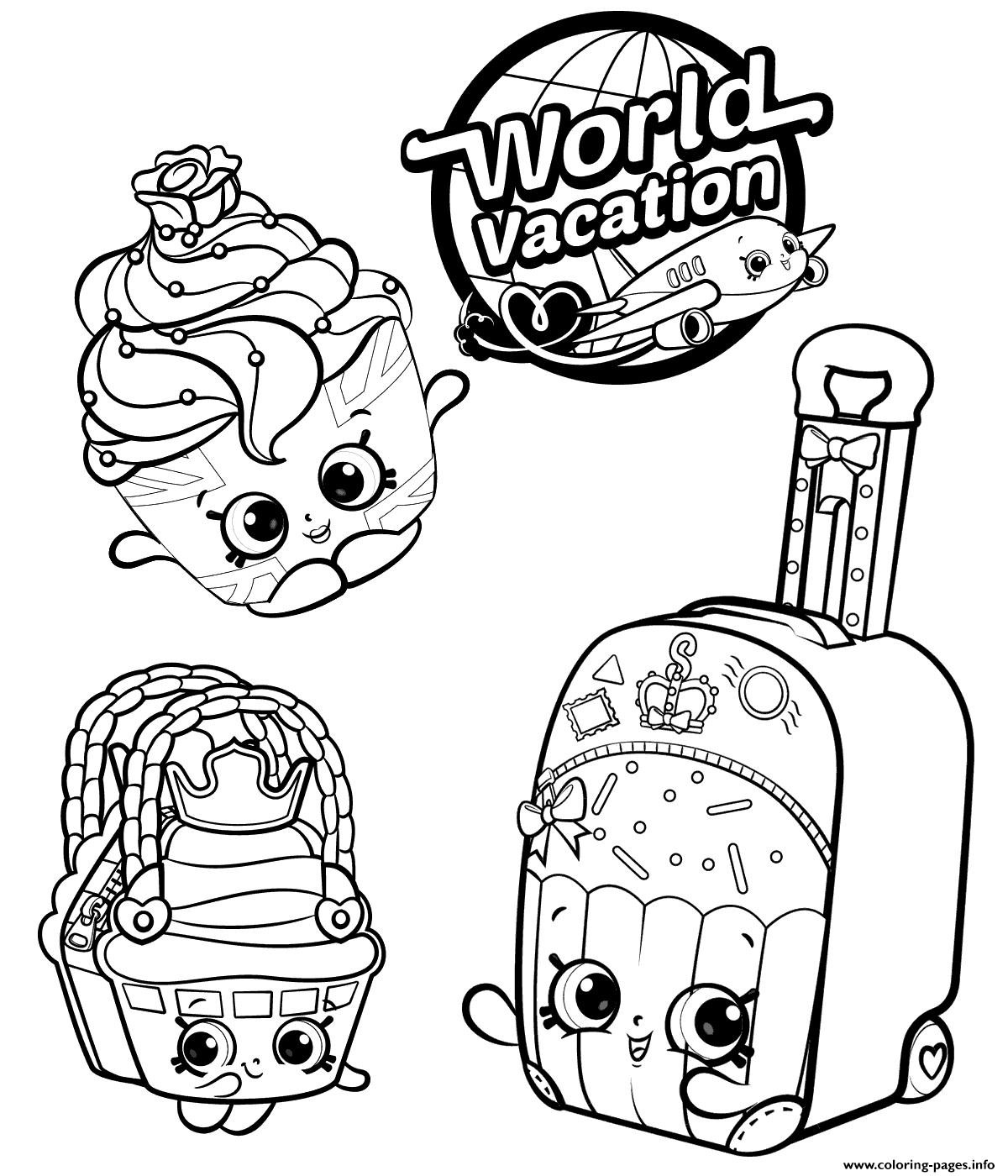 Print Shopkins 8 Season World Vacation Coloring Pages Shopkins Colouring Pages Coloring Pages Shopkin Coloring Pages