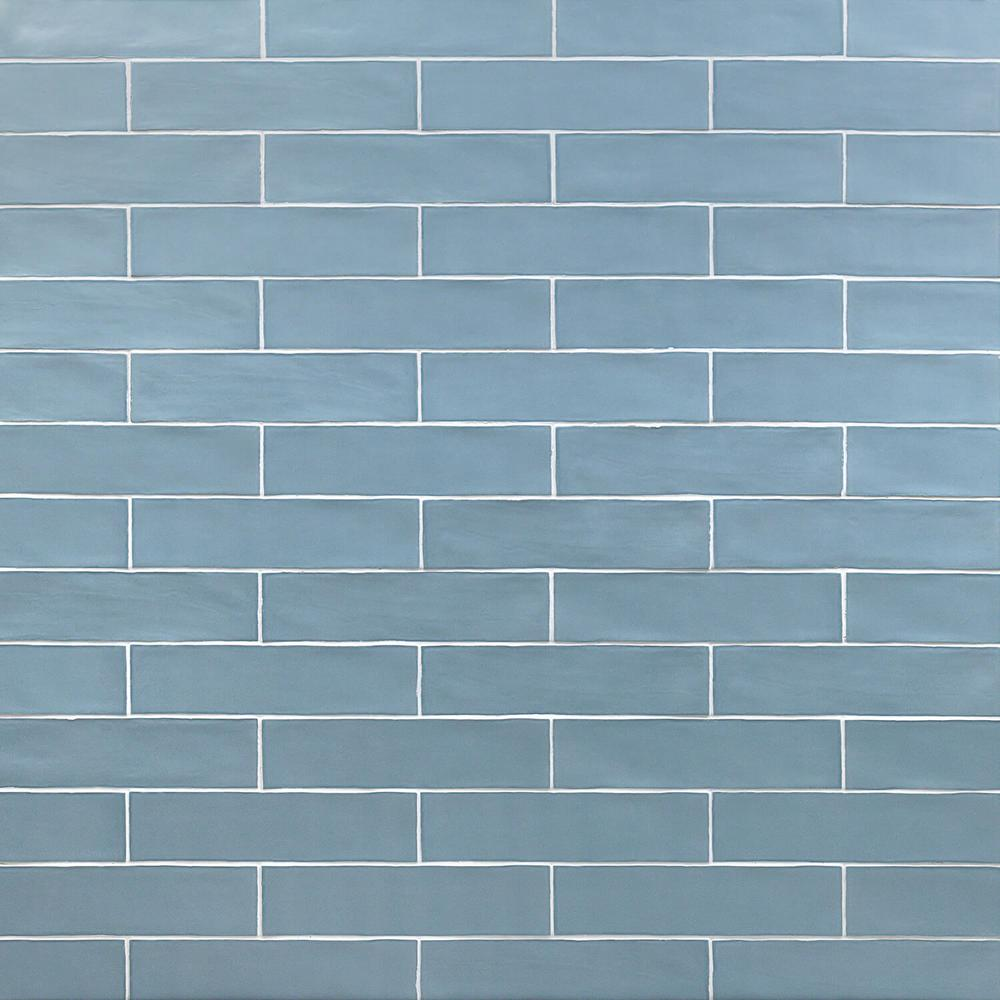 Splashback Tile Strait Blue 3 In X 12 In 8 Mm Polished Ceramic Subway Wall Tile 22 Piece 5 38 Sq Ft Bo Ceramic Subway Tile Glass Subway Tile Subway Tile