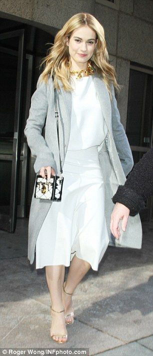 Non-stop interviews: Later in the day, Lily was spotted arriving at the ABC Studios in NYC...