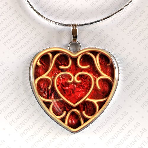 Heart container pendant piece of heart legend of zelda inspired heart container pendant piece of heart charm geekery red aloadofball Choice Image
