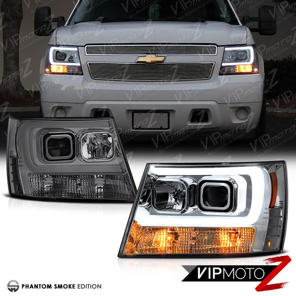 2007 2014 chevy suburban tahoe avalanche tron style led neon tube headlights