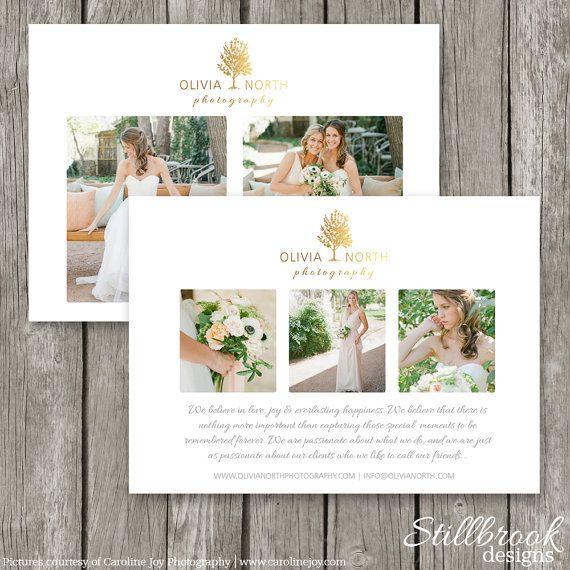 Marketing Card Template  Wedding Photography Promo Card