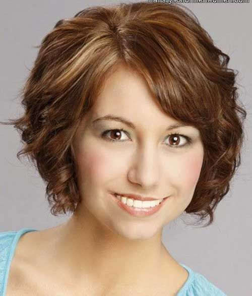 Popular Short Curly Hairstyles For Round Faces Httpwww - Curly hairstyle for a round face