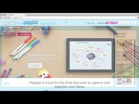 free tutorial how to make a popplet a mind mapping tool kqed