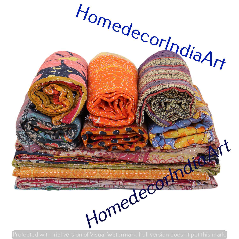 Vintage Kantha Quilt Throw Gudri Ralli Fair Trade Handmade Etsy In 2020 Vintage Kantha Quilts Vintage Kantha Kantha Throw Blanket