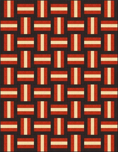 Rail Fence Quilt Pattern Designs / Easy Beginner Quilt ...