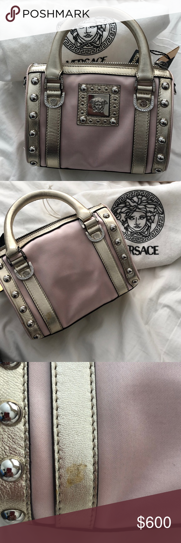 Vintage Versace Small Doctors Bag Brand New Never Used Small Versace  Doctors Bag Ping and Gold b43b98cb6801d