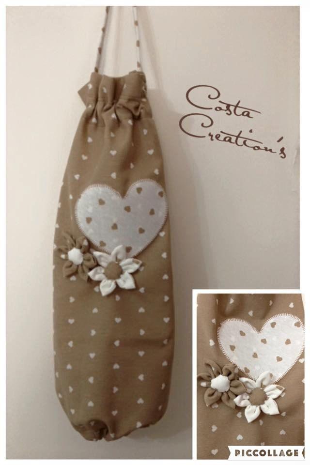 Porta sacchetti di costacreation su etsy costa creations couture couture tricot e bricolage - Porta sacchetti ...