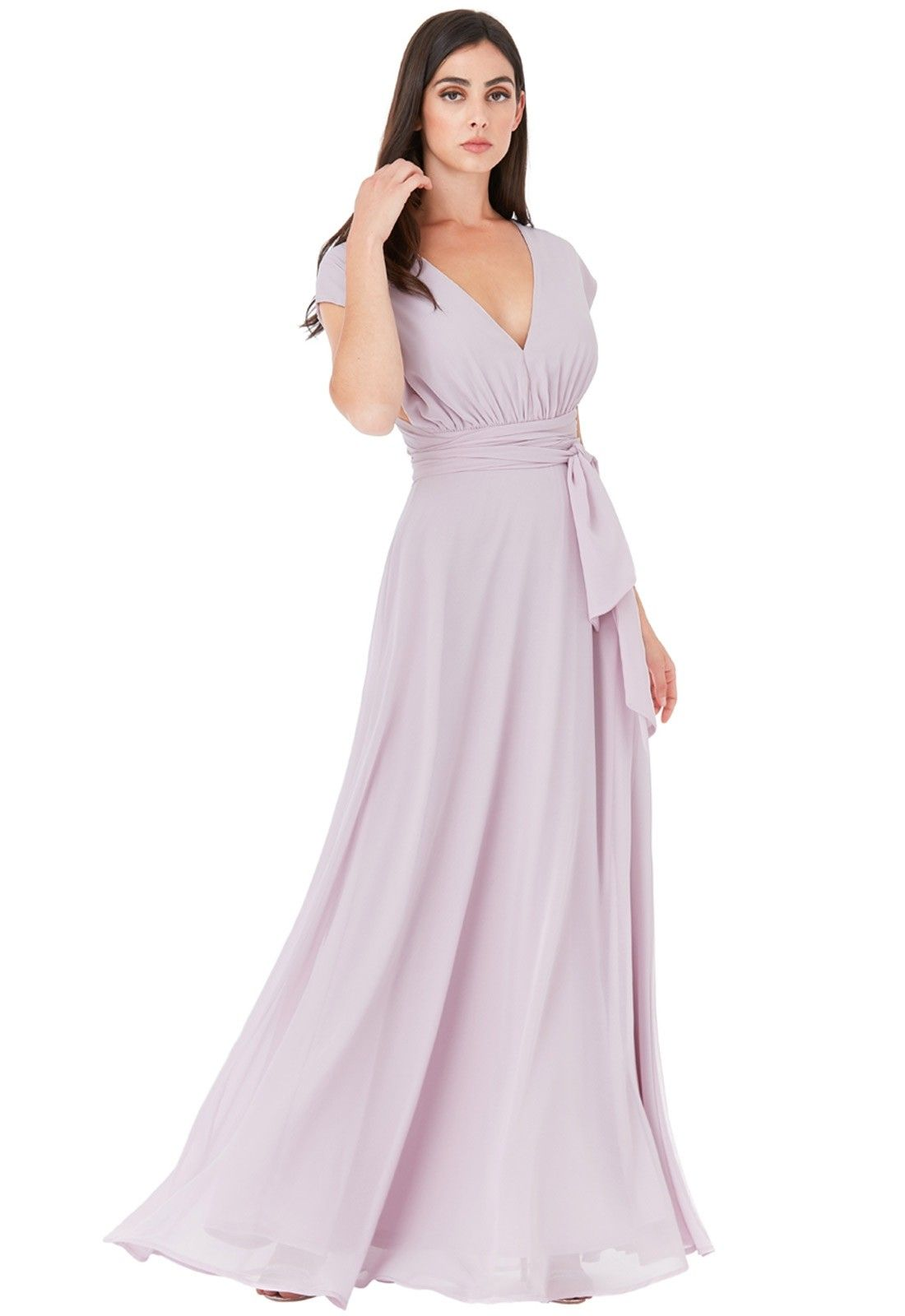 3a5666da04 Goddiva Multiway Lavender Chiffon Maxi Dress - Mother of the Bride Dresses  - Weddings