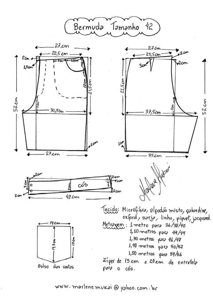 Pin by Tania Astorga on Patrones | Pinterest | Sewing patterns ...