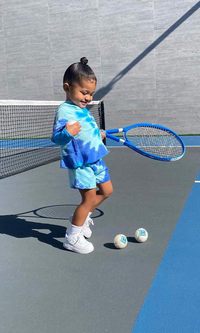 Kylie Jenner and Stormi play tennis with Chanel ra