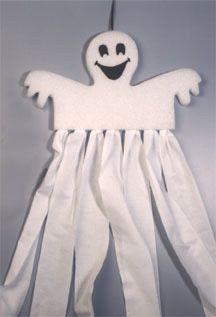 Ghostly Halloween Windsock
