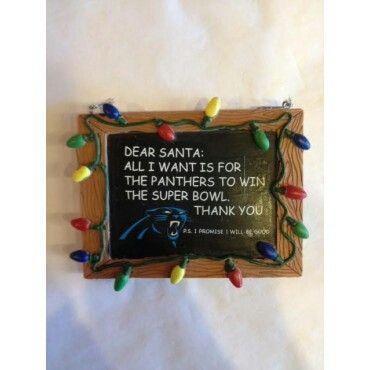 Dear Santa chalkboard tree ornament