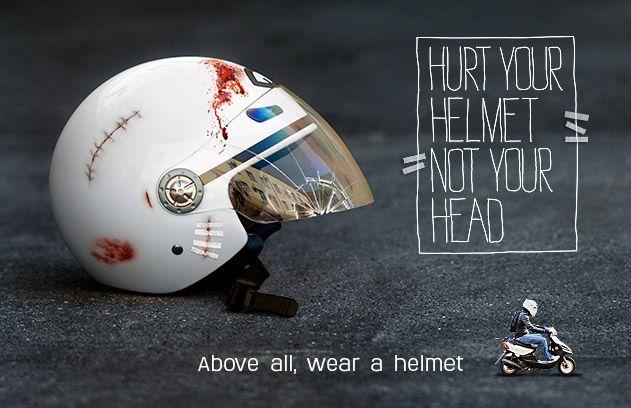 Helmet Safety Poster Awareness Programs Road Safety