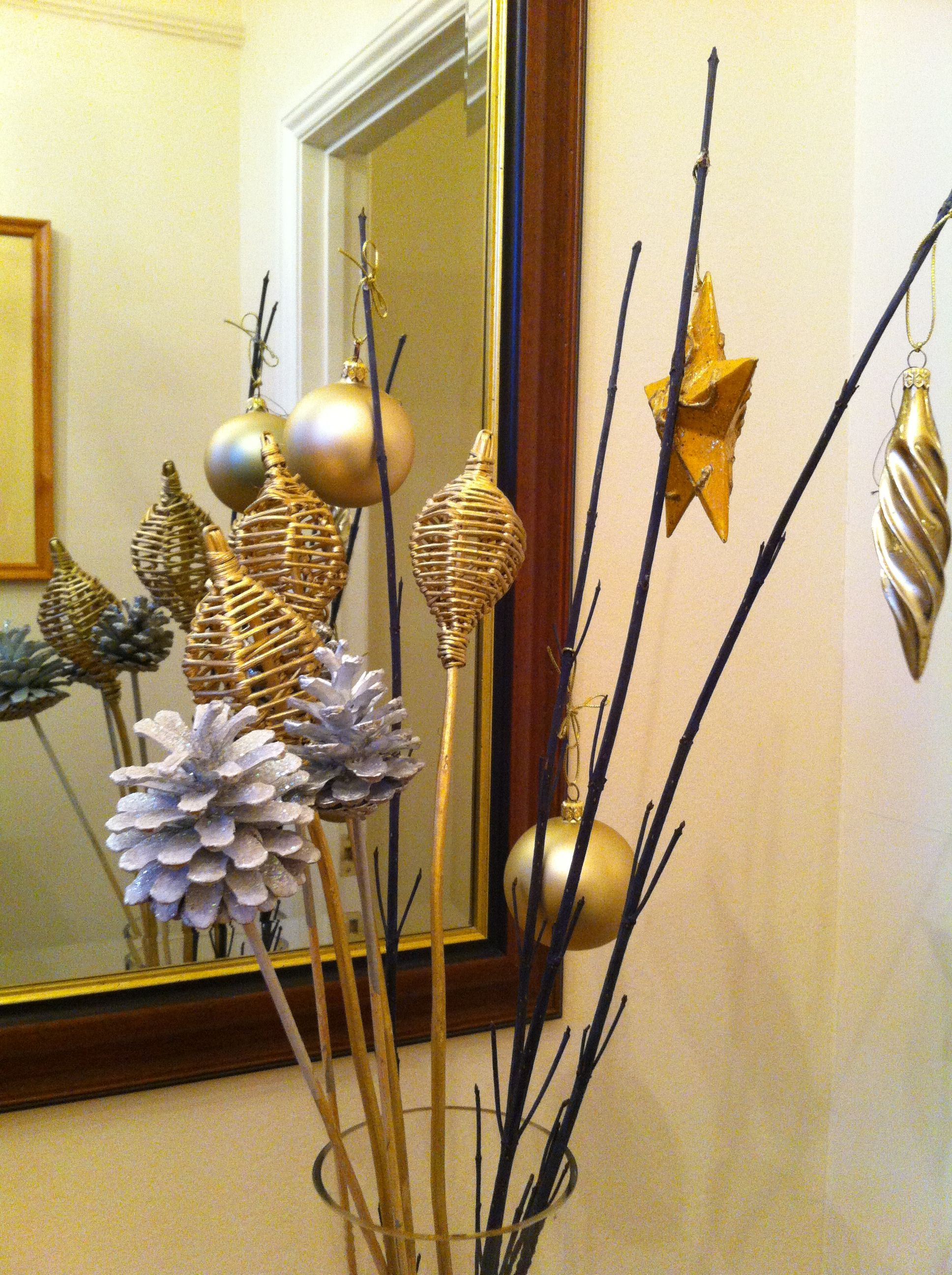 Take Some Baubles, Stars And Other Decorations, Glue To Long