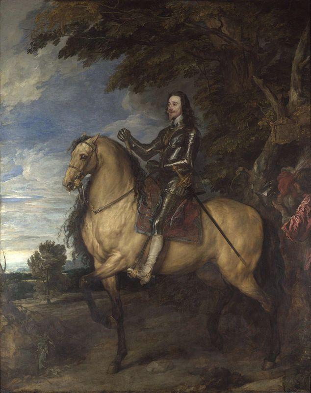 Antoon van Dyck- Ritratto di Carlo I a cavallo (1635)