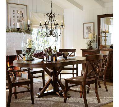 Benchwright Round Pedestal Extending Dining Table Alfresco Brown