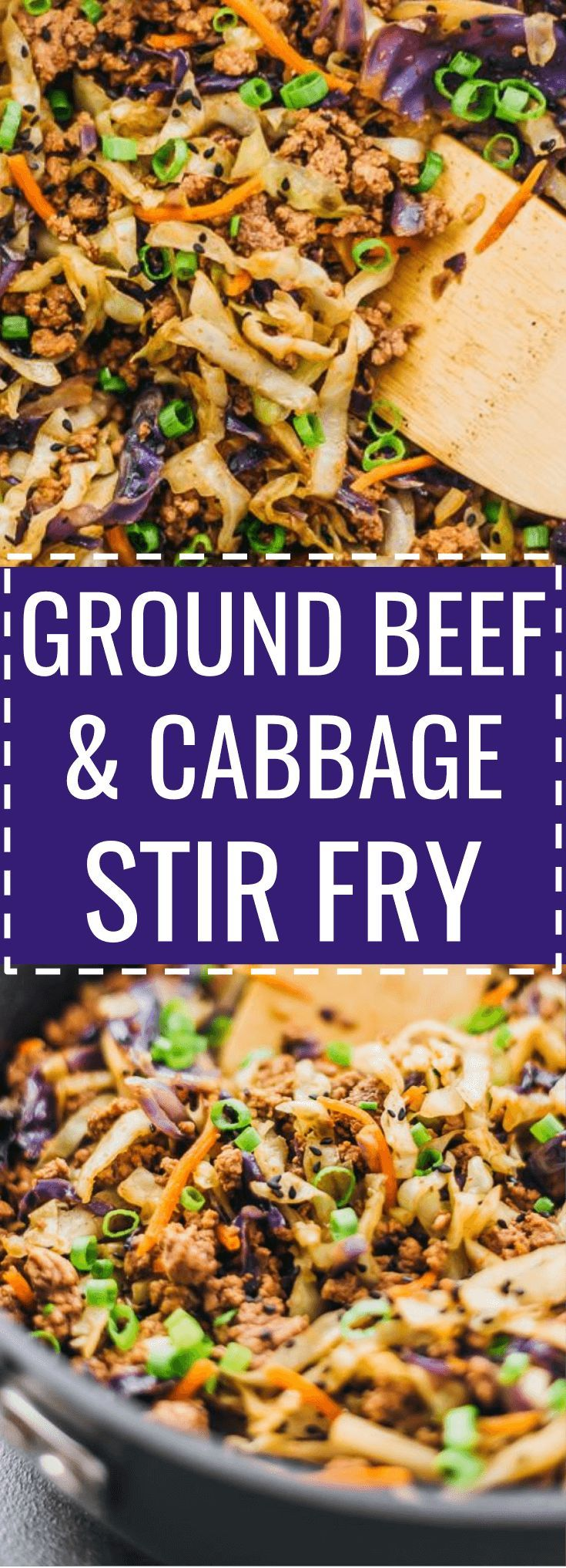 This Is A Super Fast And Easy Stir Fry Dinner With Ground Beef Cabbage Carrots And Scallions R Ground Beef And Cabbage Meat Dinners Dinner With Ground Beef