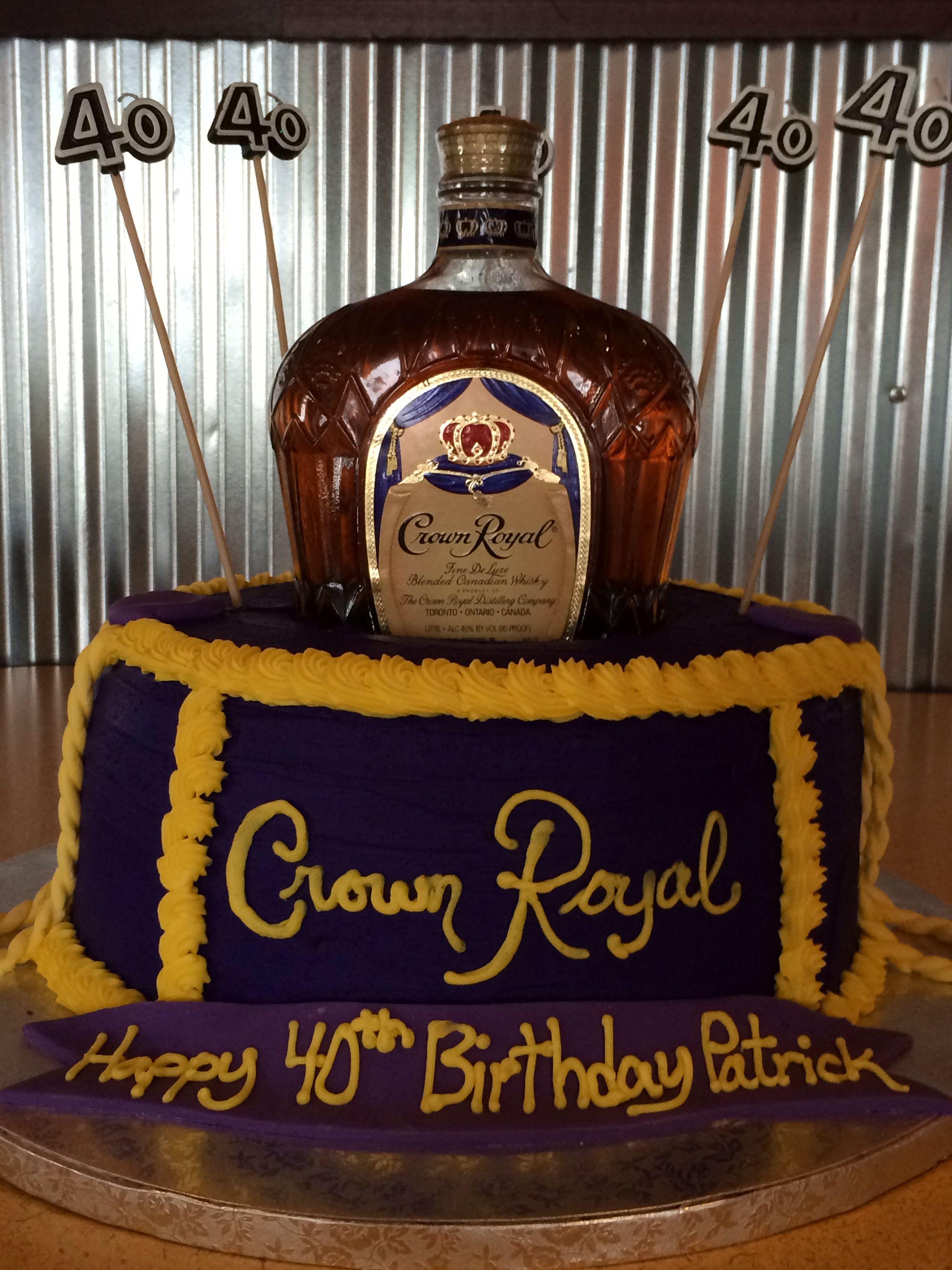 Crown Royal Birthday Cake Birthday Ideas Pinterest Cake