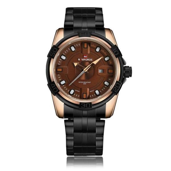 Kafeli - Men's Fashion Stainless Steel, Analog Wristwatch