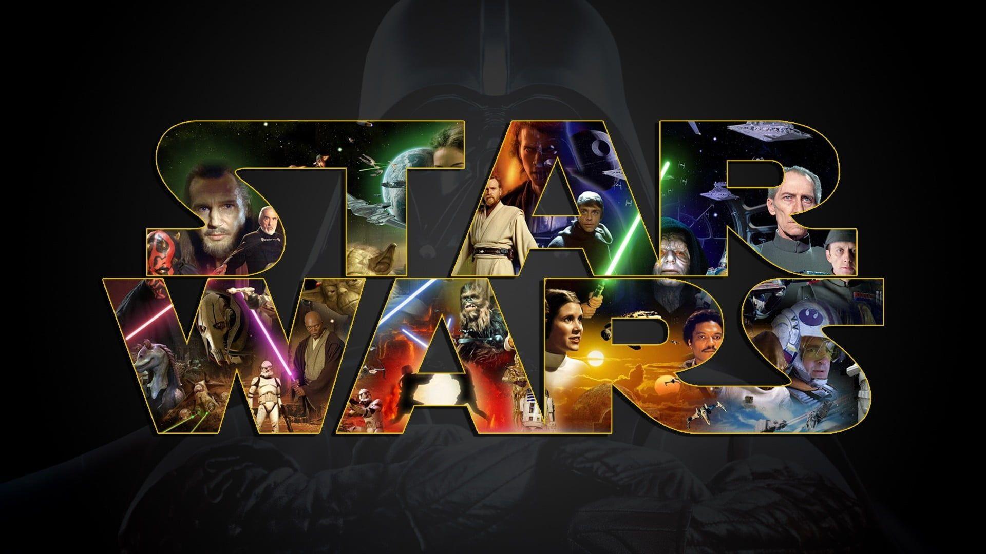 Star Wars Loog Movies Star Wars Collage 1080p Wallpaper Hdwallpaper Desktop Star Wars Wallpaper Star Wars Poster Star Wars Watch