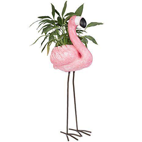 Flamingo Pflanztopf Pflanzgefäß Pflanzkübel Gartenfigur Figur Miami ...