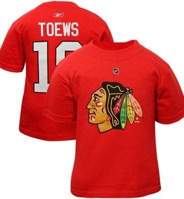 c8457737332 Reebok Jonathan Toews Chicago Blackhawks #19 Toddler Player T-Shirt - Red  (3T