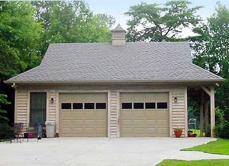 Plan 58548sv 2 car garage with side porch side porch for 2 car garage addition plans