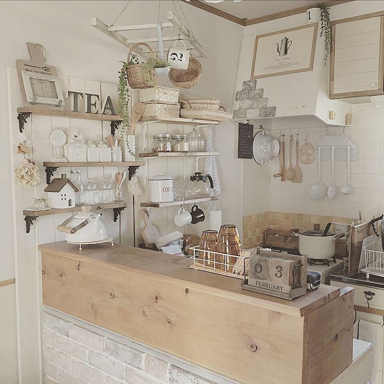 キッチン かるかるブリック キッチンカウンター 壁面収納 板壁 など