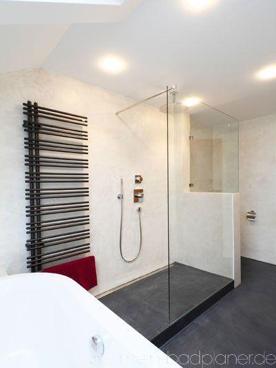 Dusche halboffen heizkörper Pinterest Heizkörper, Bäder und - badezimmer online planen