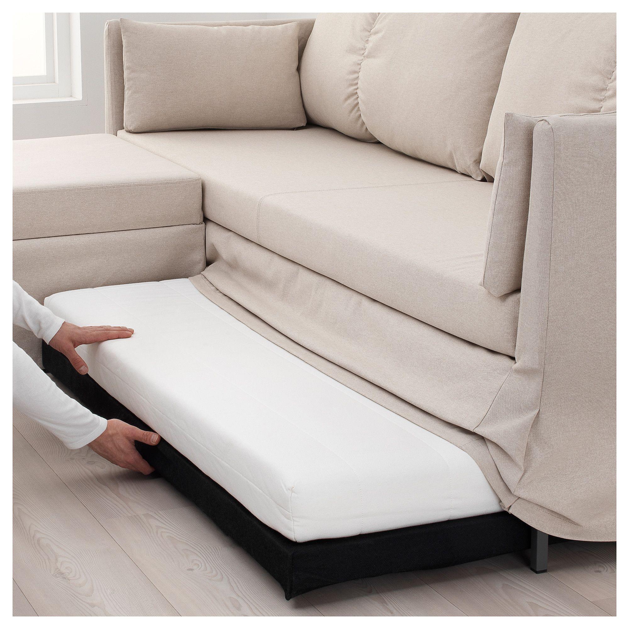 Ikea Sandbacken Corner Sofa Bed Lofallet Beige