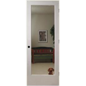 Reliabilt Reflections Solid Core Mirror Single Prehung Interior Door Common 30 In X