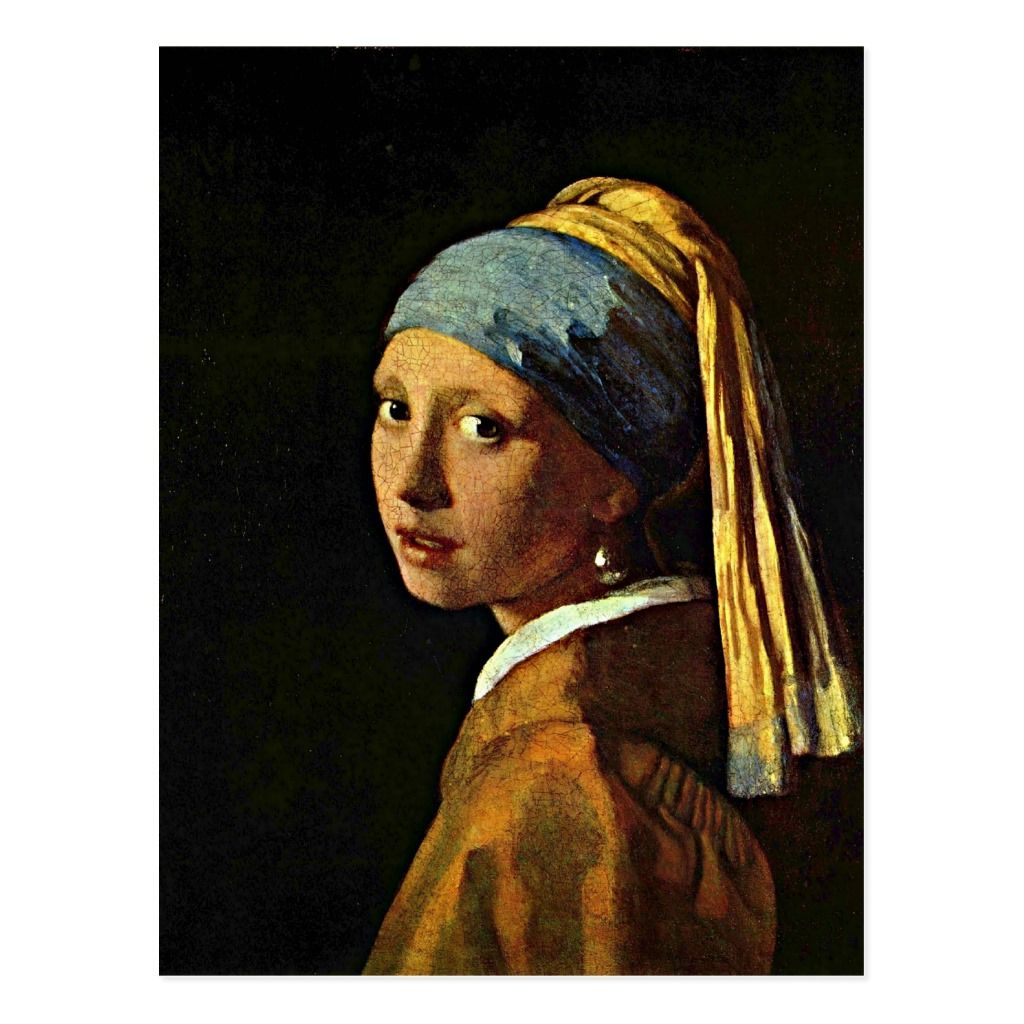 Johannes Vermeer art Girl with a Pearl Earring Postcard