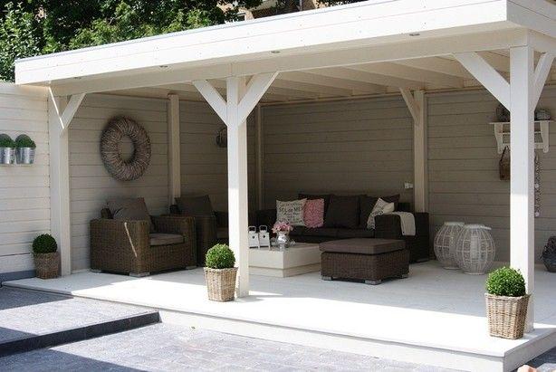 Buitenverblijf keuken van lariks douglas hout voor meer inspiriatie - Outdoor patio ideeen ...