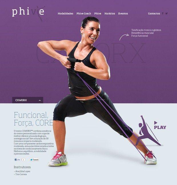 Web Design – Phive Health club