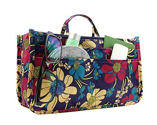 7b2fac3722d8 MICOM Cute Printing Expandable 13 Pocket Handbag Insert Purse ...