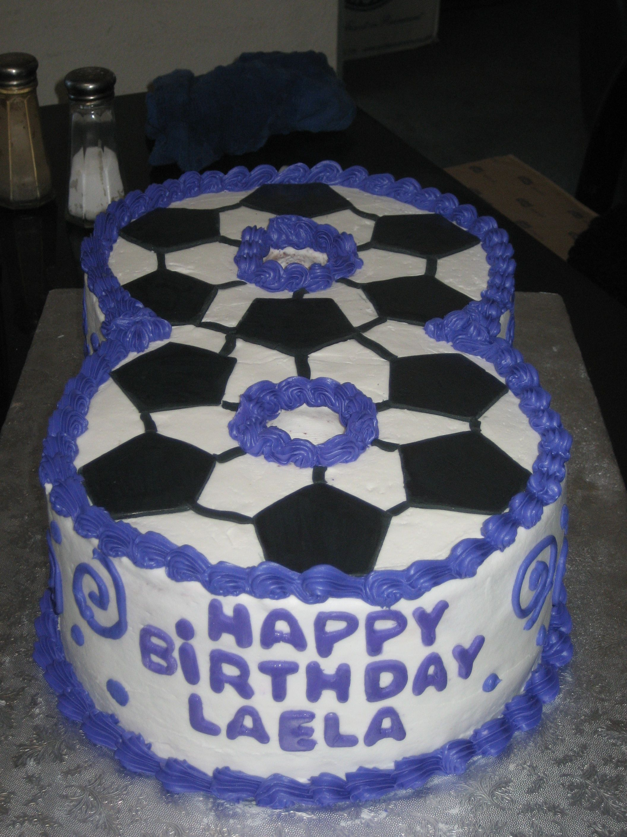 Soccor Themed Number 8 Cake Football Birthday Cake Cake