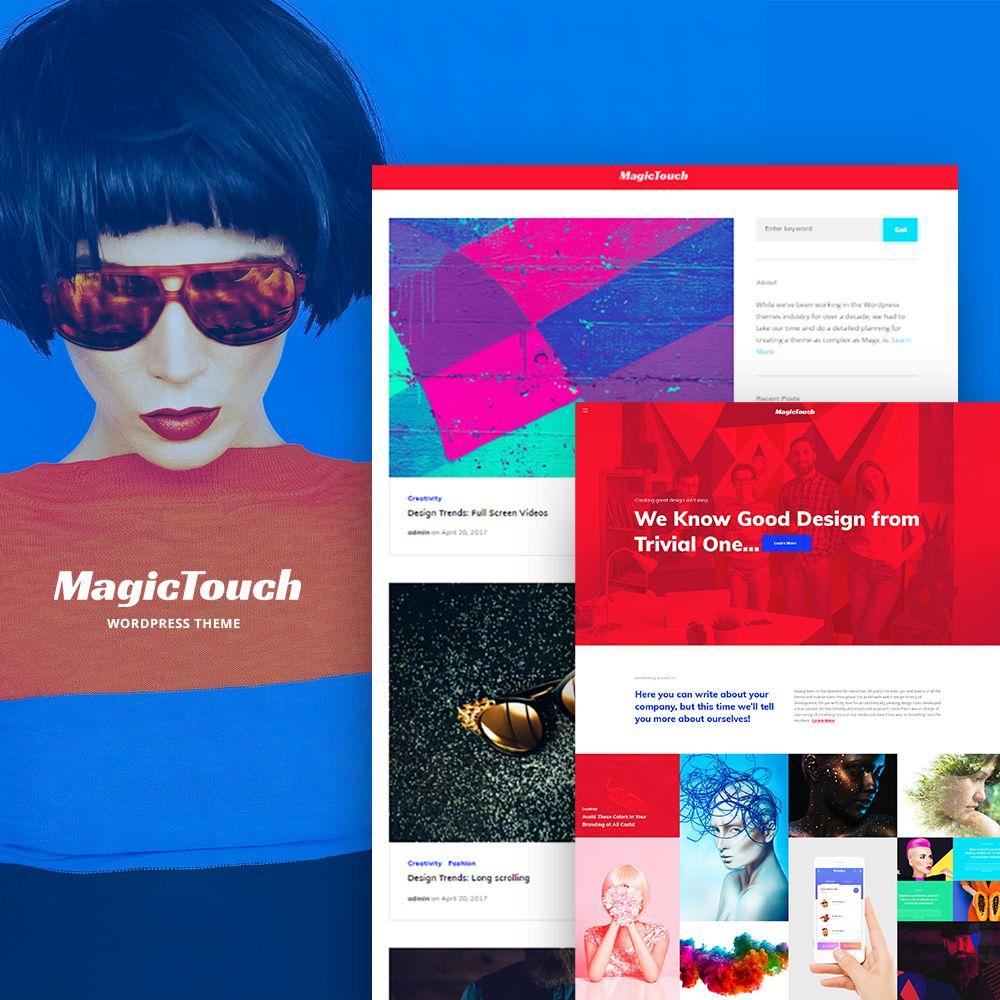magictouch web design studio responsive wordpress theme web