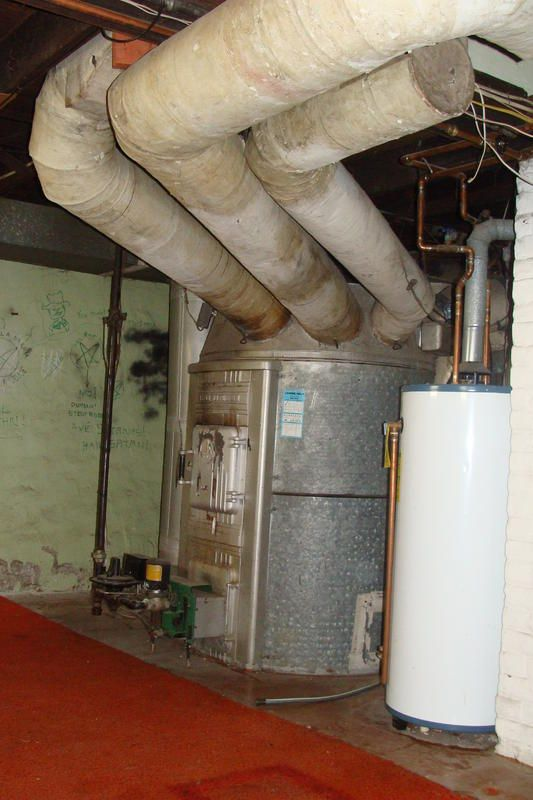 an octopus or gravity furnace we often run into these in minnesota rh pinterest co uk Home Furnace Diagram Oil Furnace Diagram