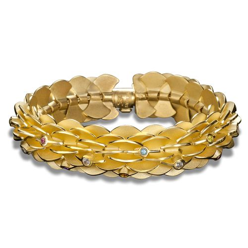 18K Gold plated bracelet Samantha Gold bracelet for women