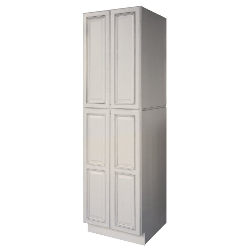 Sunny Wood Rlp2484 A White Riley 24 Wide X 84 High 4 Door Pantry Cabinet With 4 Shelves Tall Pantry Cabinet Pantry Cabinet White Kitchen Cabinets
