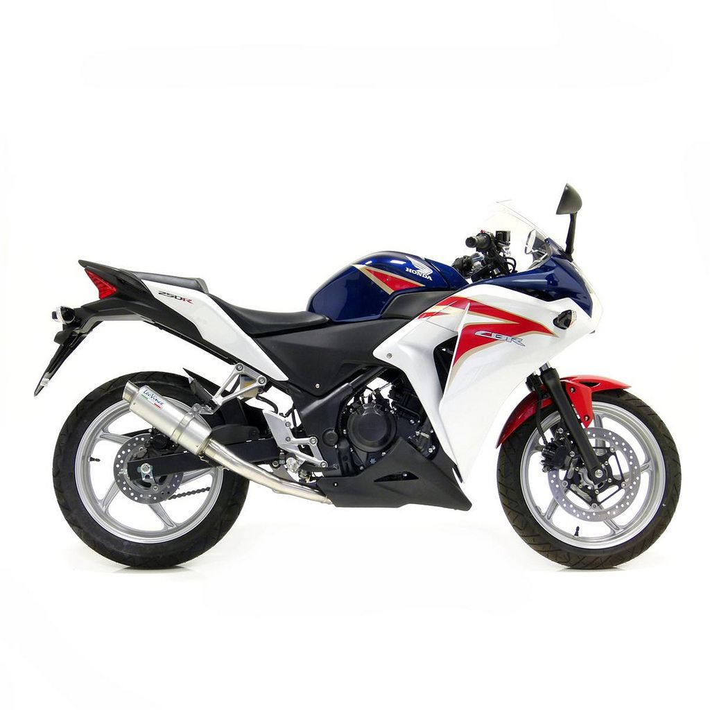 #3472 Honda CBR250R Full System - Carbon Cannister (Showing Titanium cannister - Full System has Carbon Cannister)