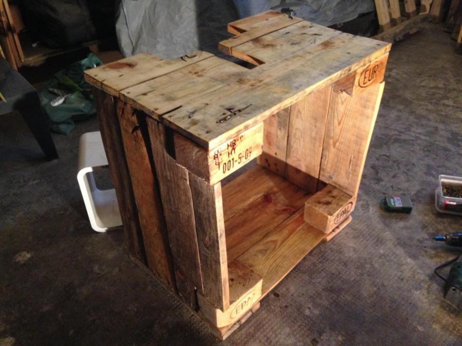 Badezimmerschrank Waschbecken Unterschrank Aus Palettenholz