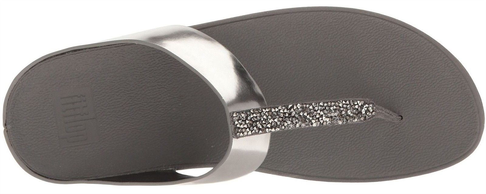 b62d1017e Fitflop Fino Pewter Womens Leather Sandals Flip Flops