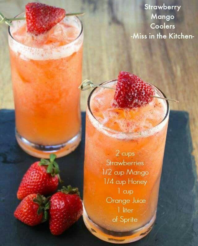 Strawberry Mango Spritzer   getränke   Pinterest   Getränke ...