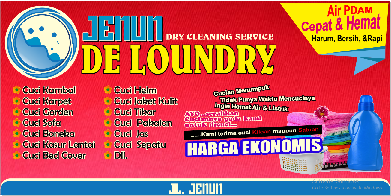 11 Contoh Desain banner spanduk laundry CDR terbaru BannerSpanduk